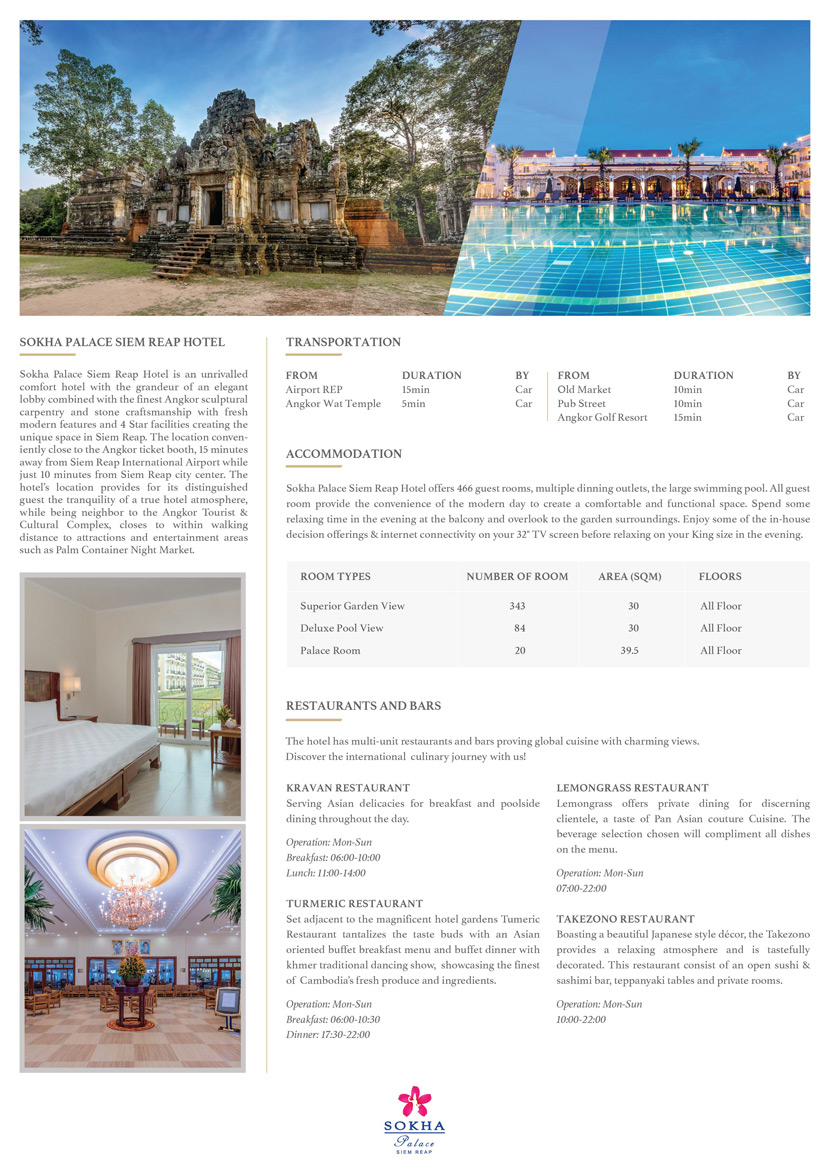 Sokha Palace Siem Reap Resort fact-sheet 01